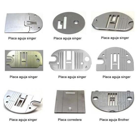 Placas de aguja para maquina de coser