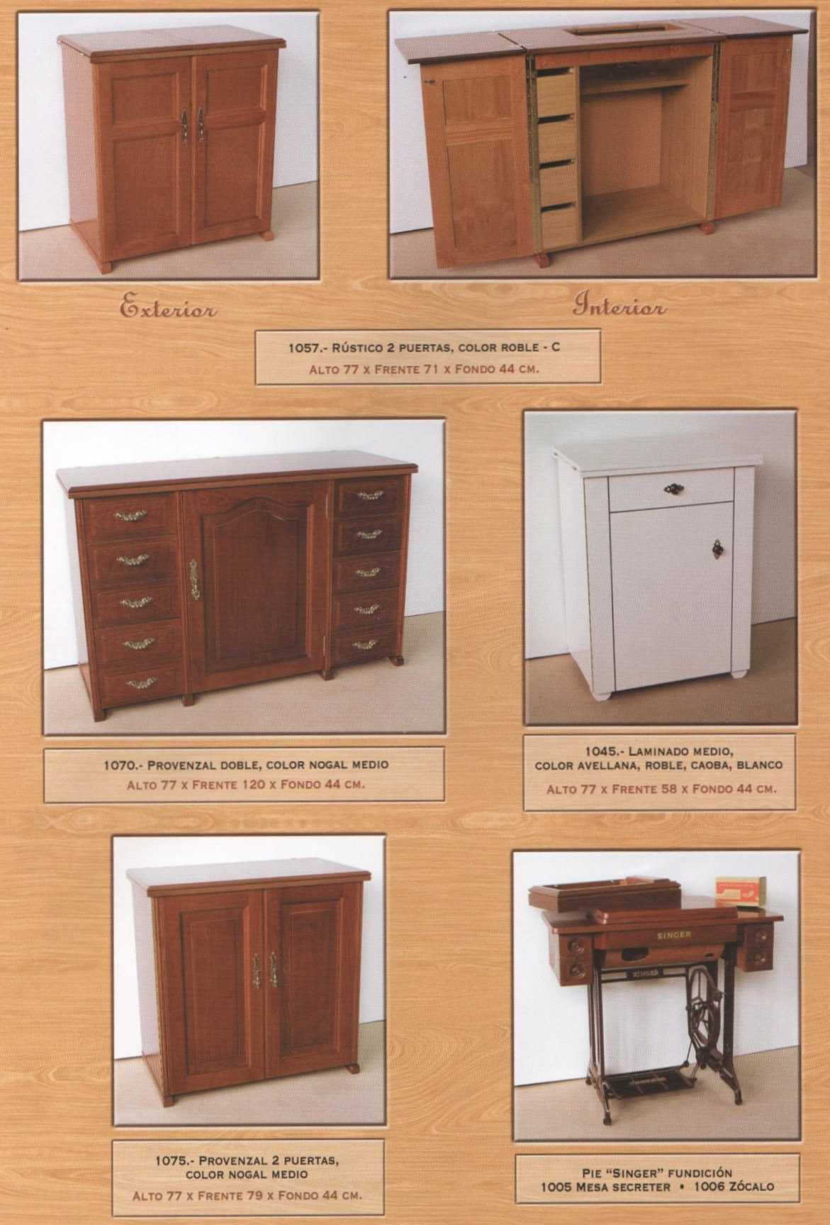muebles maquinas de coser