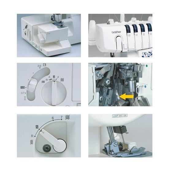 white overlock machine