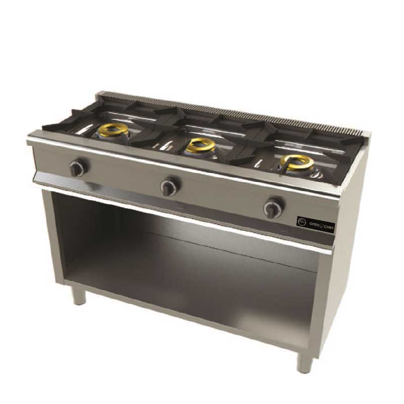 Open norte cocina a gas 3 fuegos modelo ocfg6300 - Cocina gas 3 fuegos ...